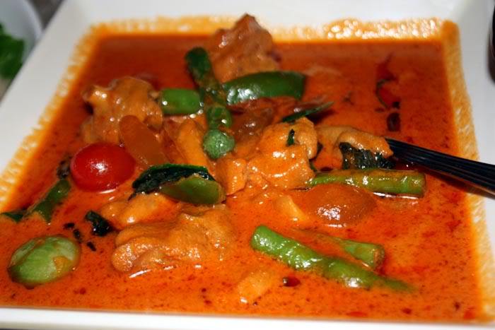 Thai red curry chicken - not nice!