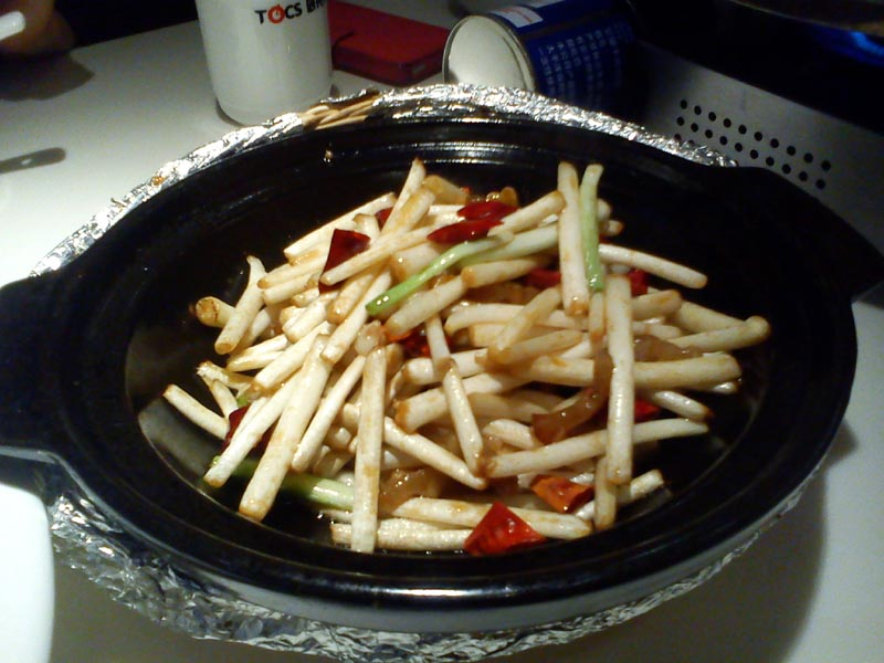 Stir-fried Peanut Stems