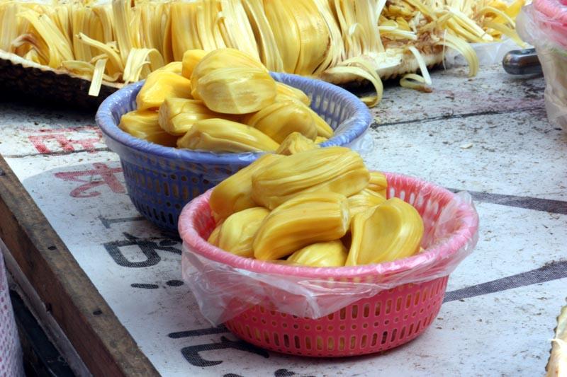 Jackfruit on stall in Liuzhou