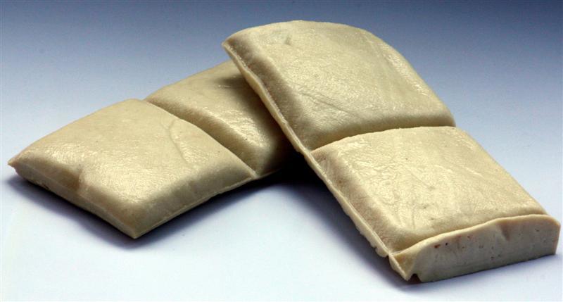 White dried tofu