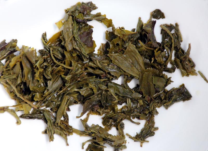 Liuzhou Qingming Tea (after brewing)