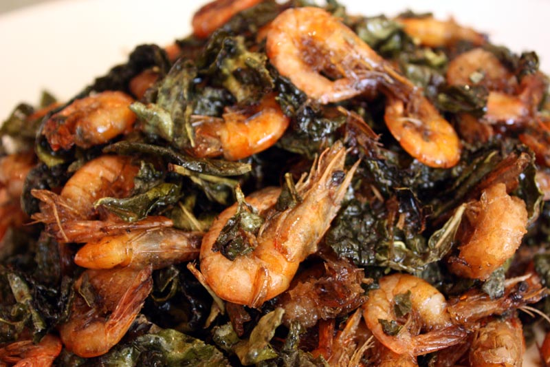 Prawns with Green Tea