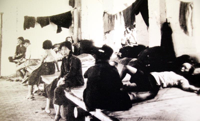 Refugee camp in Liuzhou
