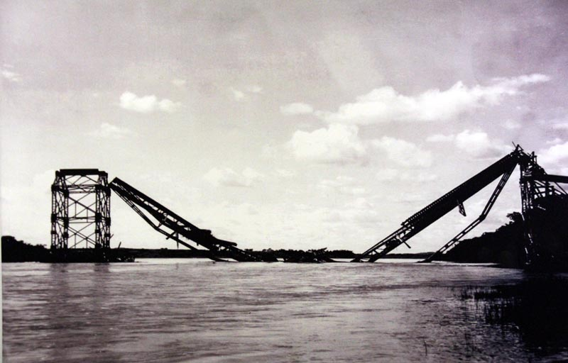 Bridges bombed to prevent the Japanese using them