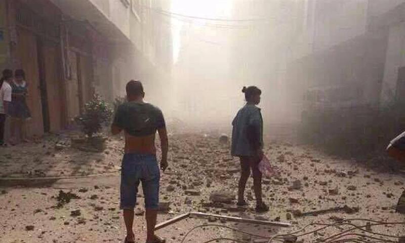 Scene of Bombing in Liucheng